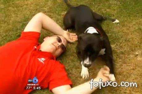 Cachorro salva vida do dono ligando para 911