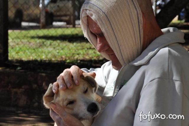 Cão se despede de dono em cama de hospital