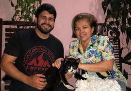 Gato que atrapalhou repórter é adotado pela tia do jornalista
