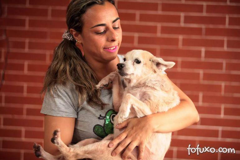 Família adota cachorro com 17 anos de idade