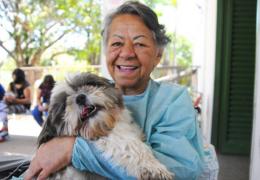 Hospital do DF promove encontra de paciente com cachorro