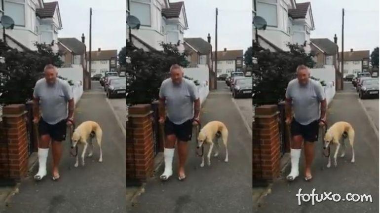 Homem manco gasta R$ 2,1 mil em consulta e descobre que cão o imitava