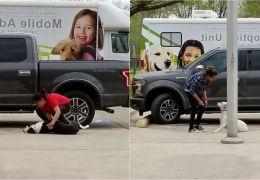 Mulher divulga imagens e vídeos de cães momentos antes de serem abandonados