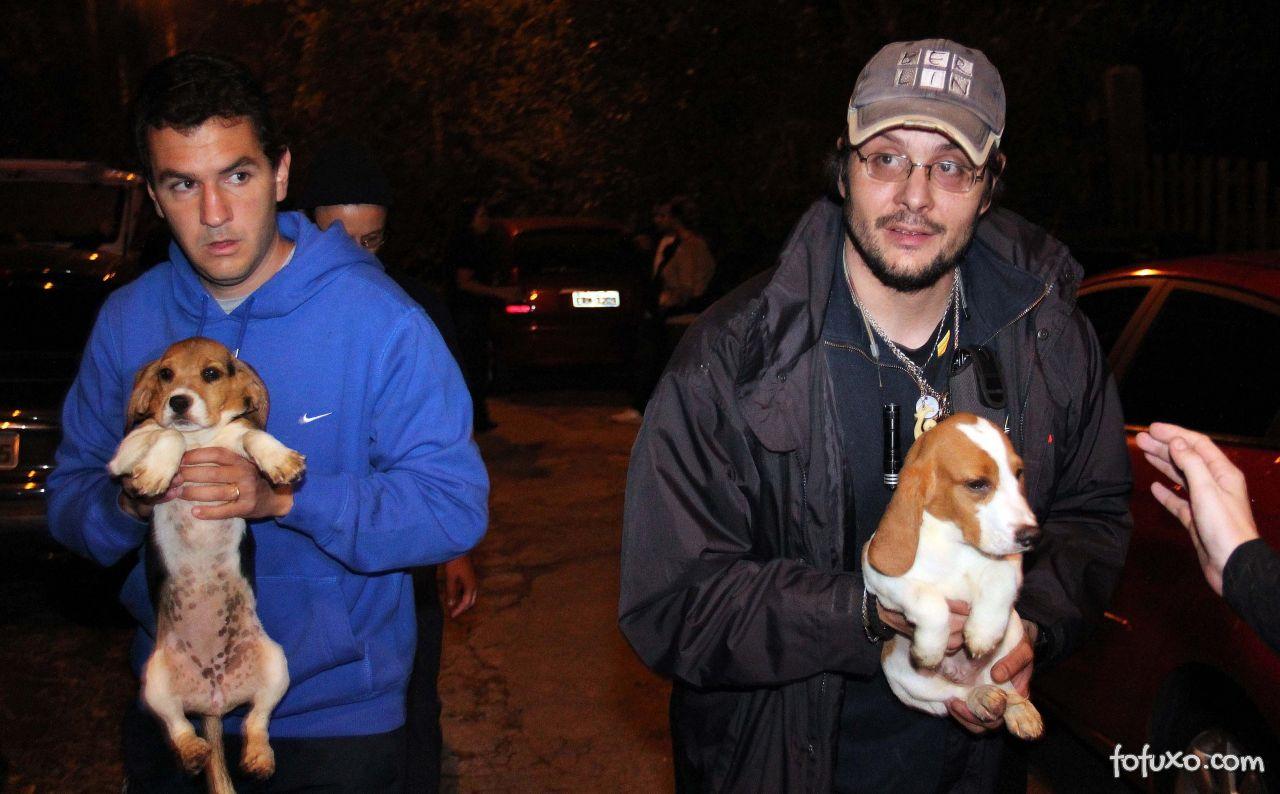 Ativistas resgatam animais de instituto acusado de maus tratos.
