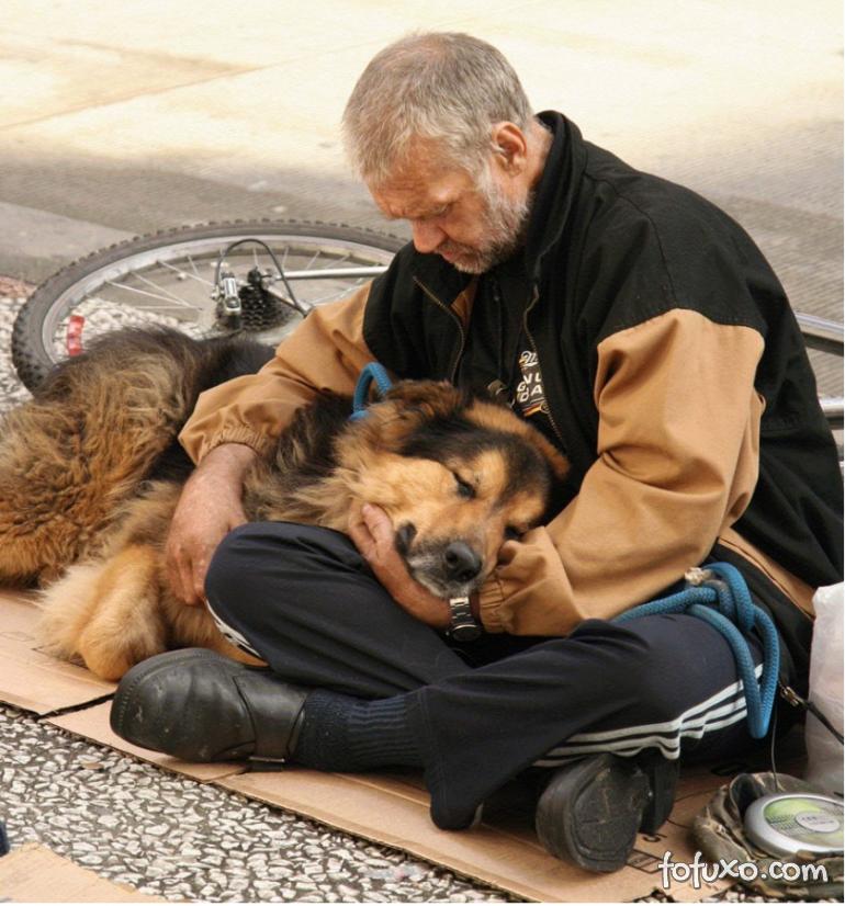 Fotos mostram amor de moradores de rua por seus cães - Foto 5