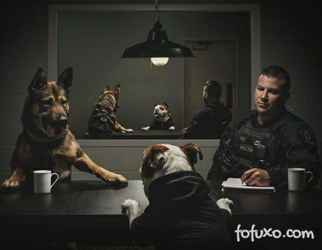 Polícia canadense faz calendário com fotos de seus cães 2