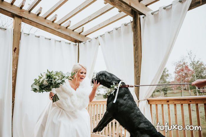 Noiva faz ensaio com cachorro e resultado fica incrível - Foto 2