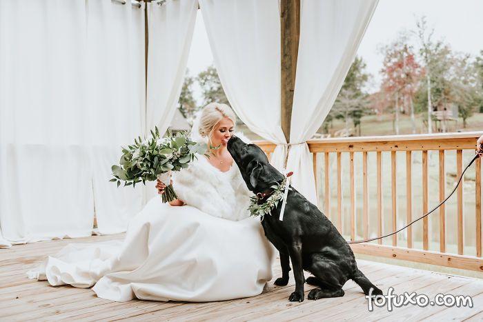 Noiva faz ensaio com cachorro e resultado fica incrível - Foto 3