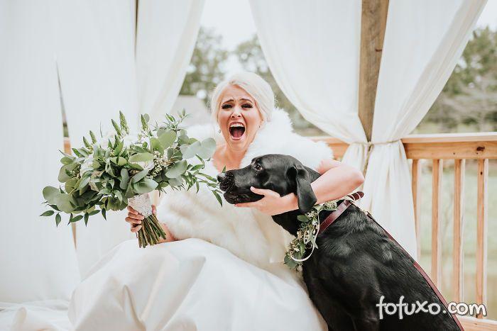 Noiva faz ensaio com cachorro e resultado fica incrível - Foto 5