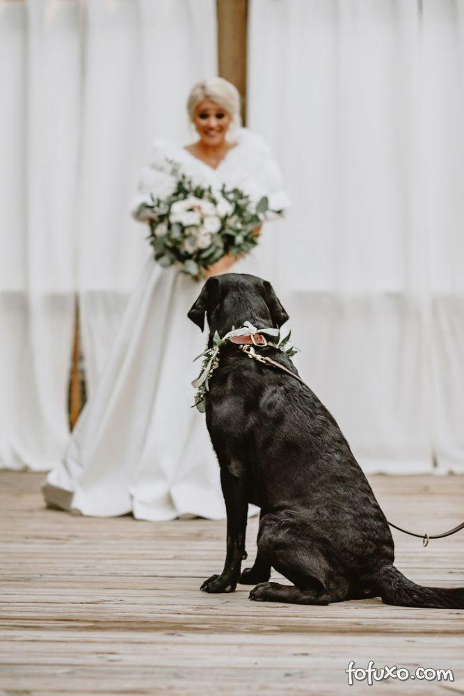 Noiva faz ensaio com cachorro e resultado fica incrível - Foto 7